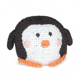 Squeaky Penguin Cotton Knit Dental Dog Toy