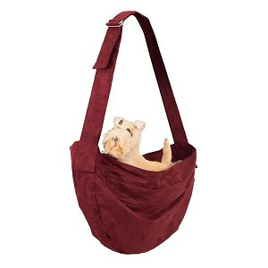 Cuddle Dog Carrier by Susan Lanci- Burgundy