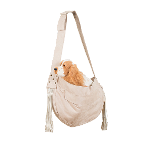 Luxe Suede Fringe Cuddle Carrier- Doe