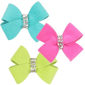 Nouveau Bow Swarovski Crystal Hair Bows - 20 Colors