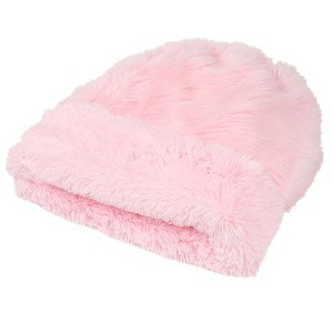 Cuddle Cup Dog Bed - Pink Fluff Shag