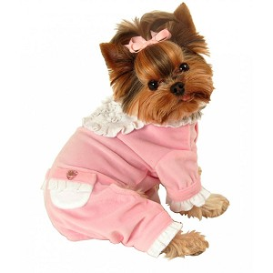 Sweetie Ruffle Dog Jumper- Pink