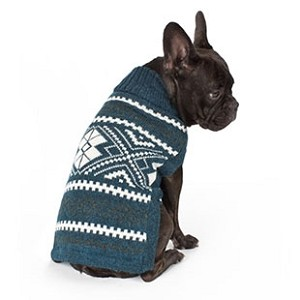 Teal Glam Alpaca Dog Sweater