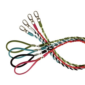 Twisted Couture Italian Calfskin Leather Dog Leash - Four Colors