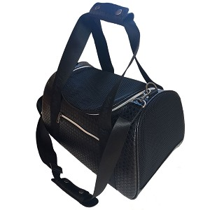 Vanderpump Graphite Duffle Pet Carrier- Black
