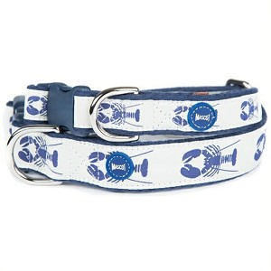 Vineyard Vines Lobster Dog Collar- Ivory