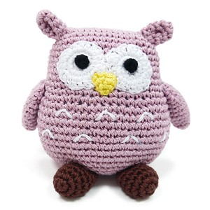 Wise Owl Cotton Knit Dog Toy