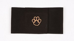 Black Pawprint Wizzer Bellyband by Susan Lanci