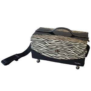 Zebra Train Case Dog Traveler by PuchiBag